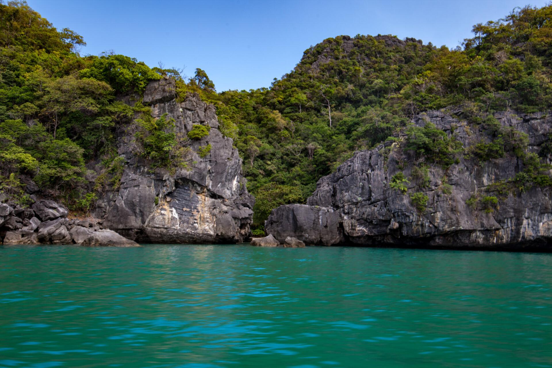 cliffs at the sea