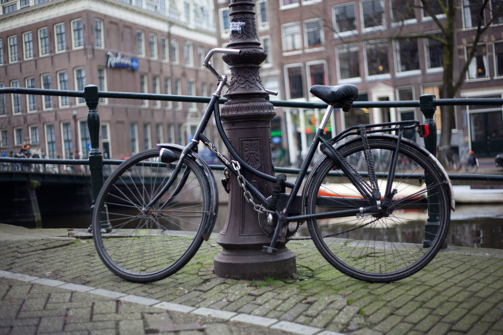 bicycle on lamppost