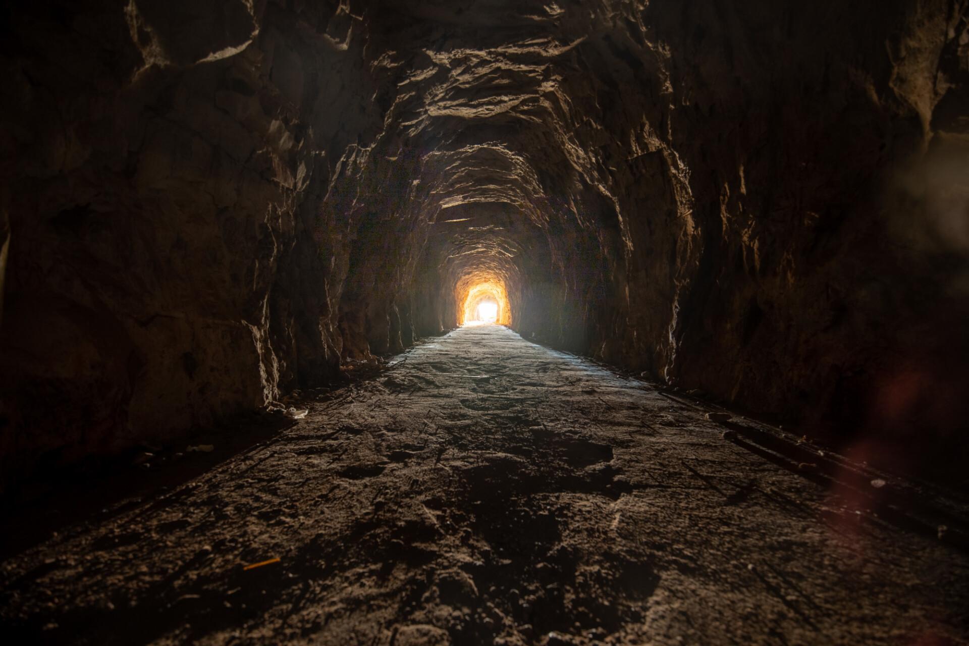 Old dark mineshaft