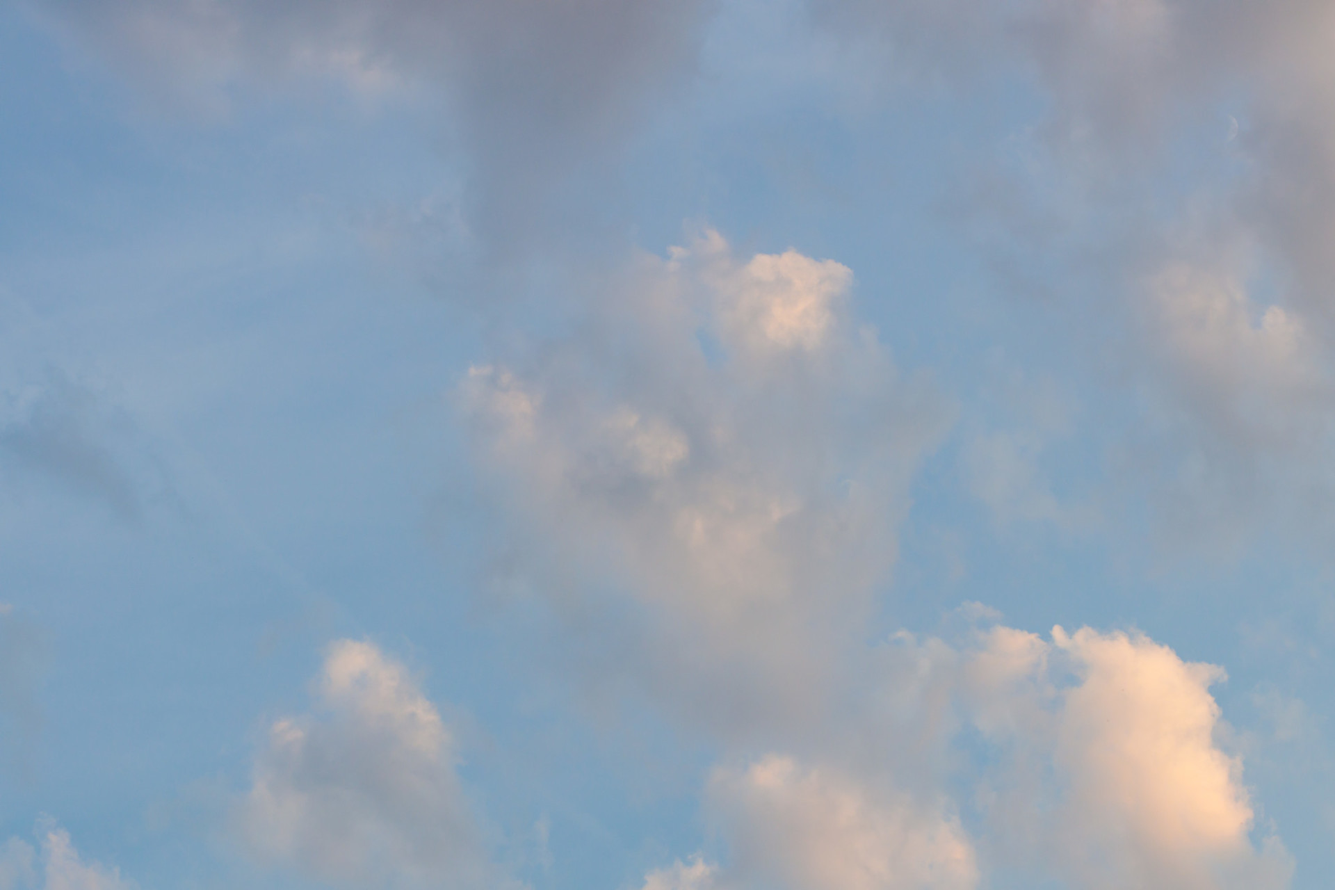 Beautiful sky with soft clouds