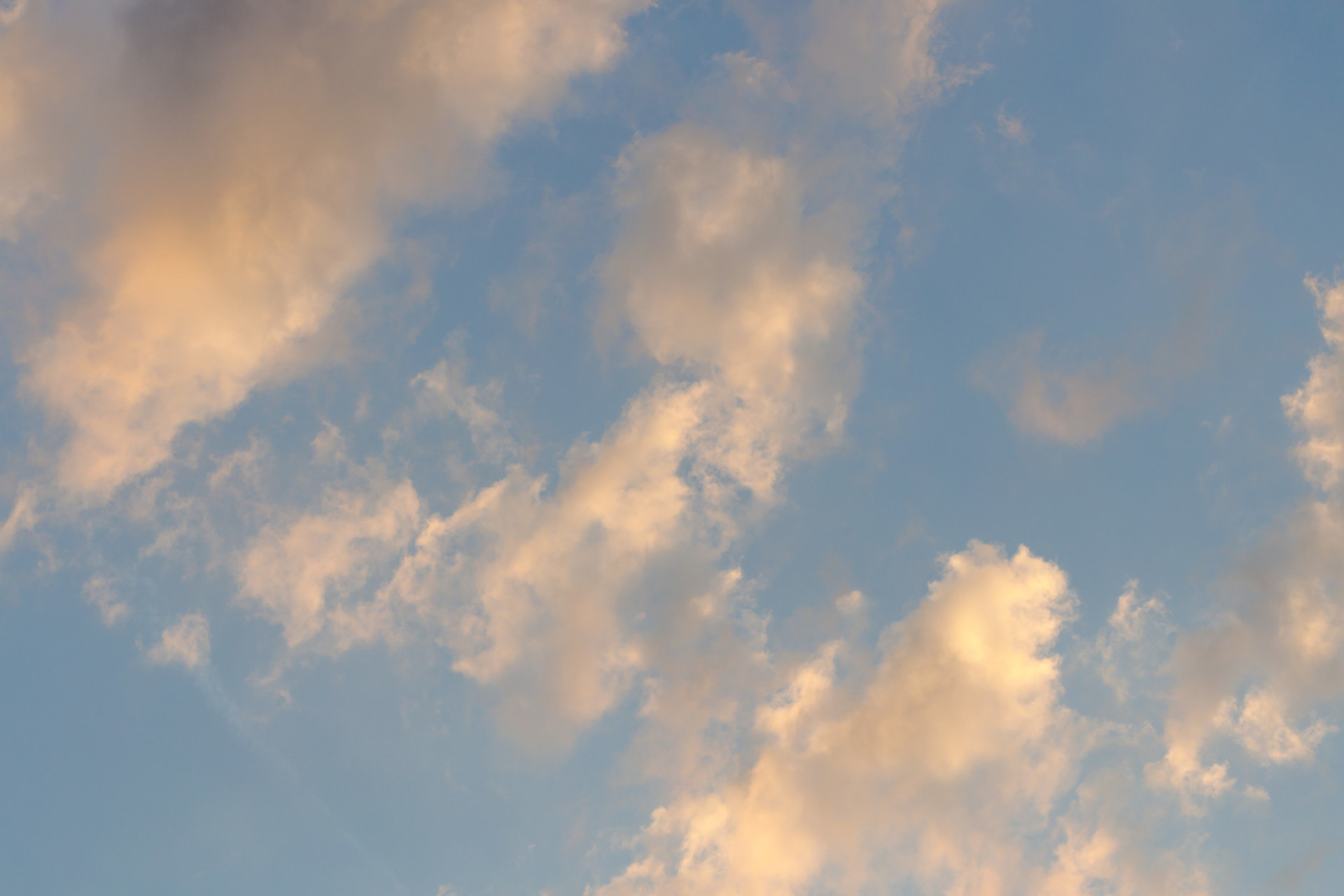 Horizontally photographed sky at evening time