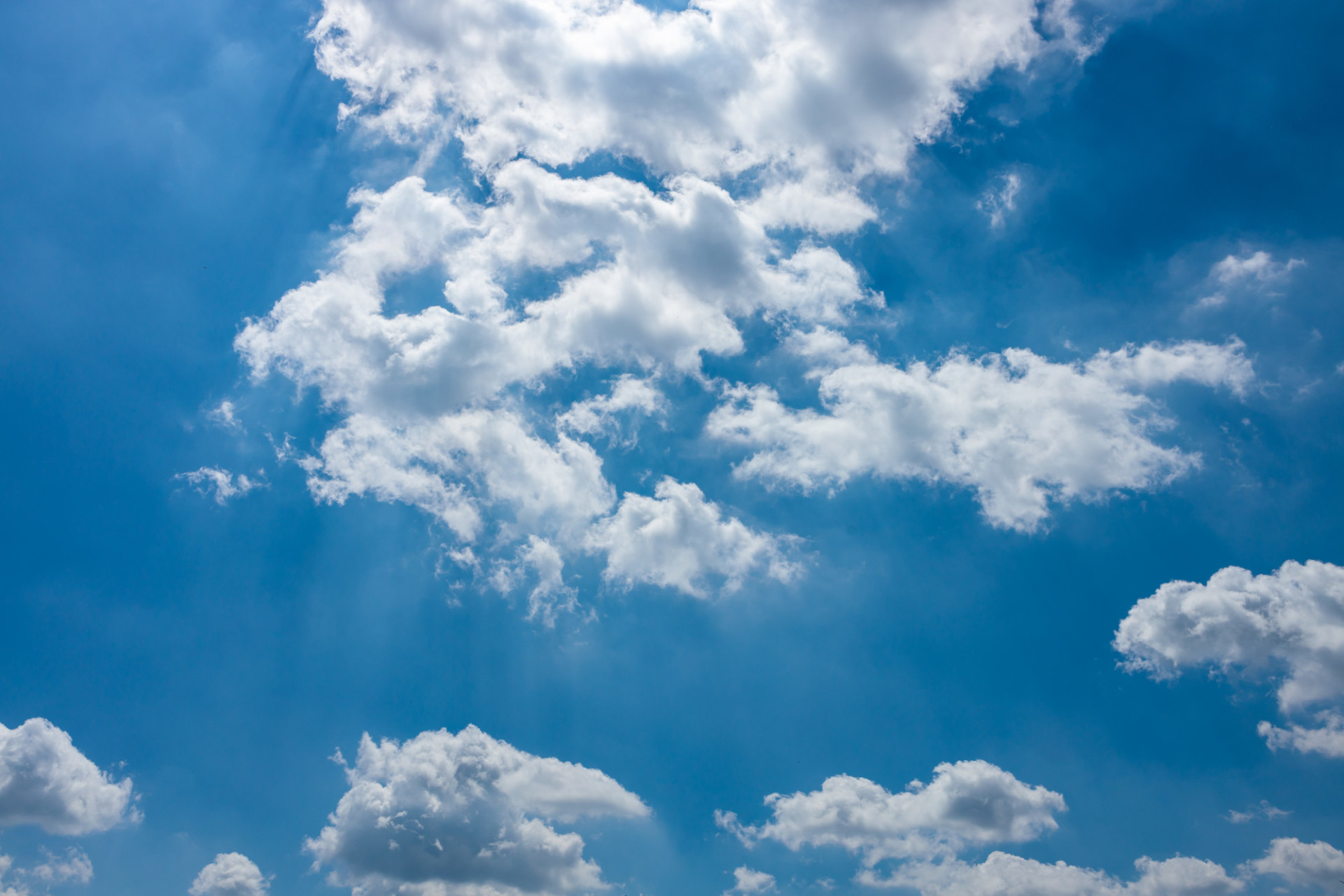 Light breaks through the clouds Sky
