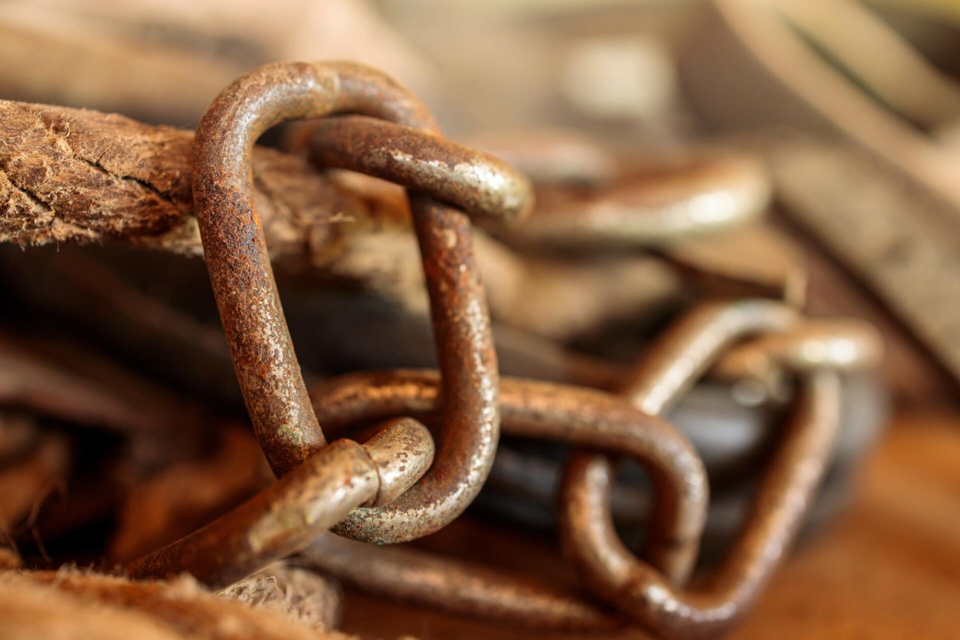 Rusty iron chain