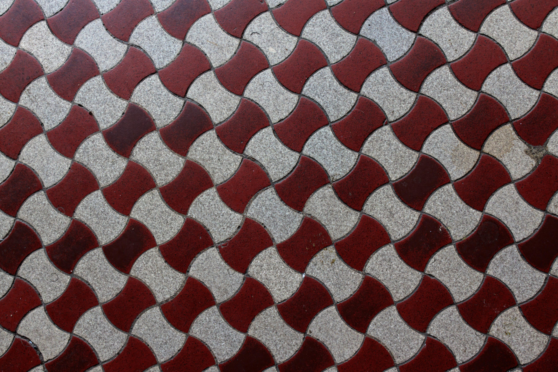 Old vintage tiles red and white