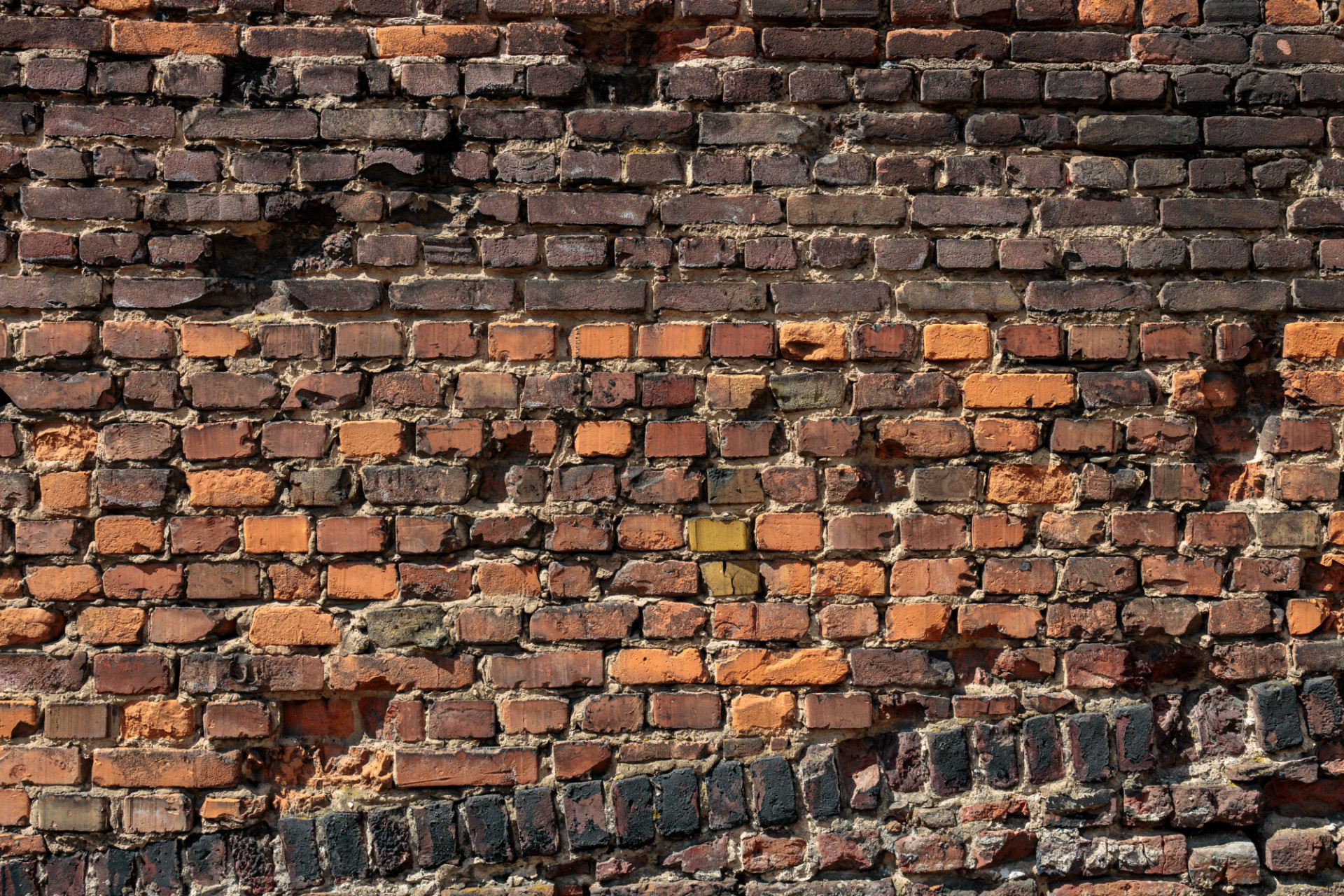 Destroyed old red brick wall texture