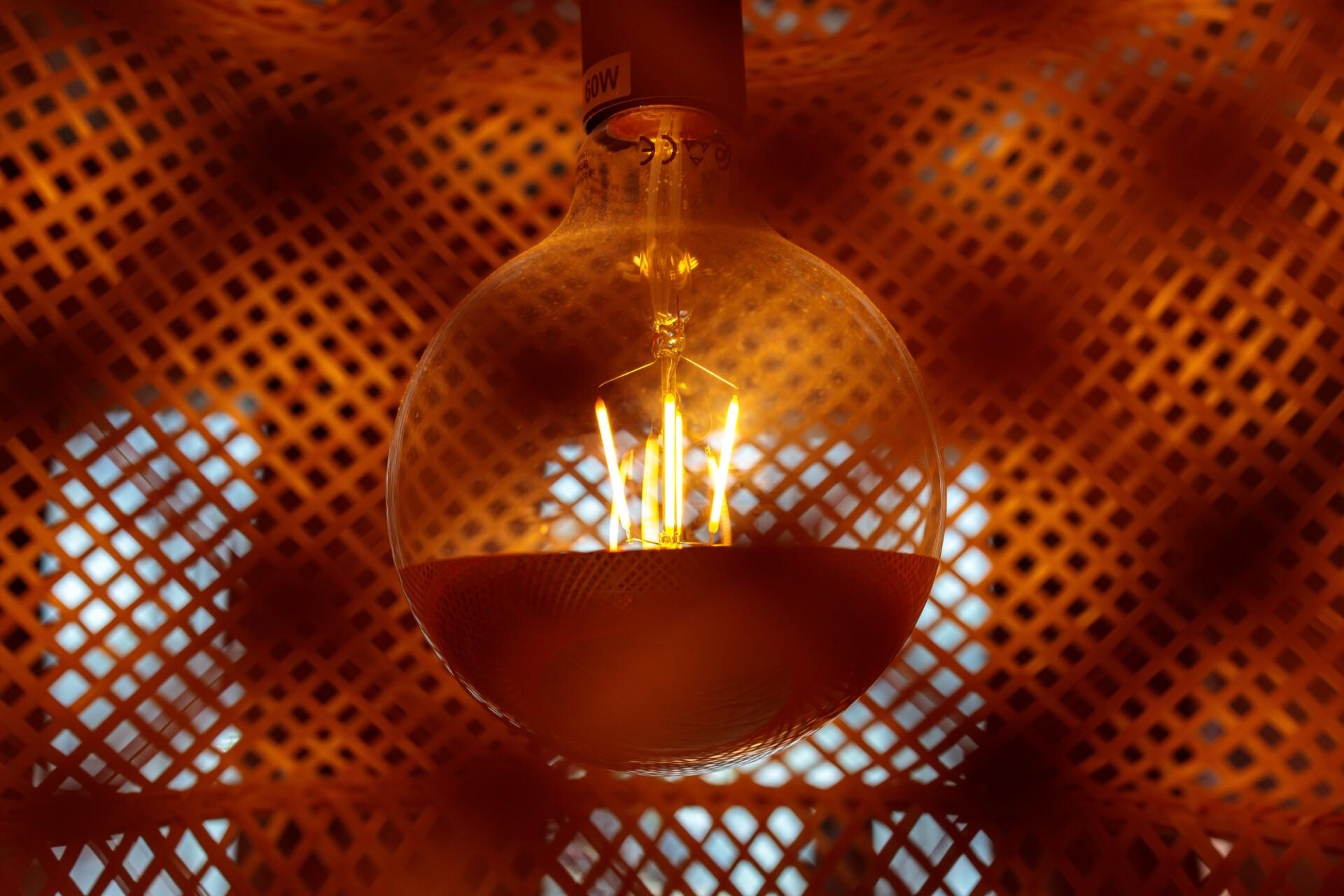 Light bulb in a lamp