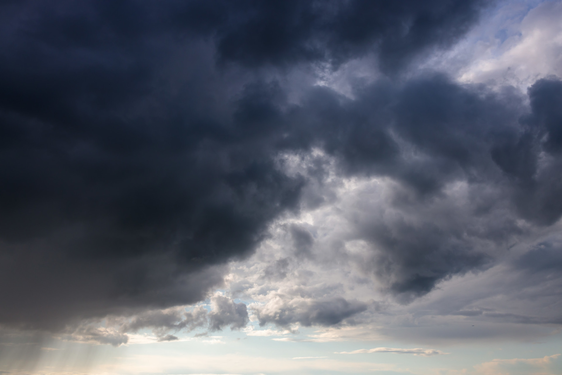 Stormy cloudy sky background for sky replacement