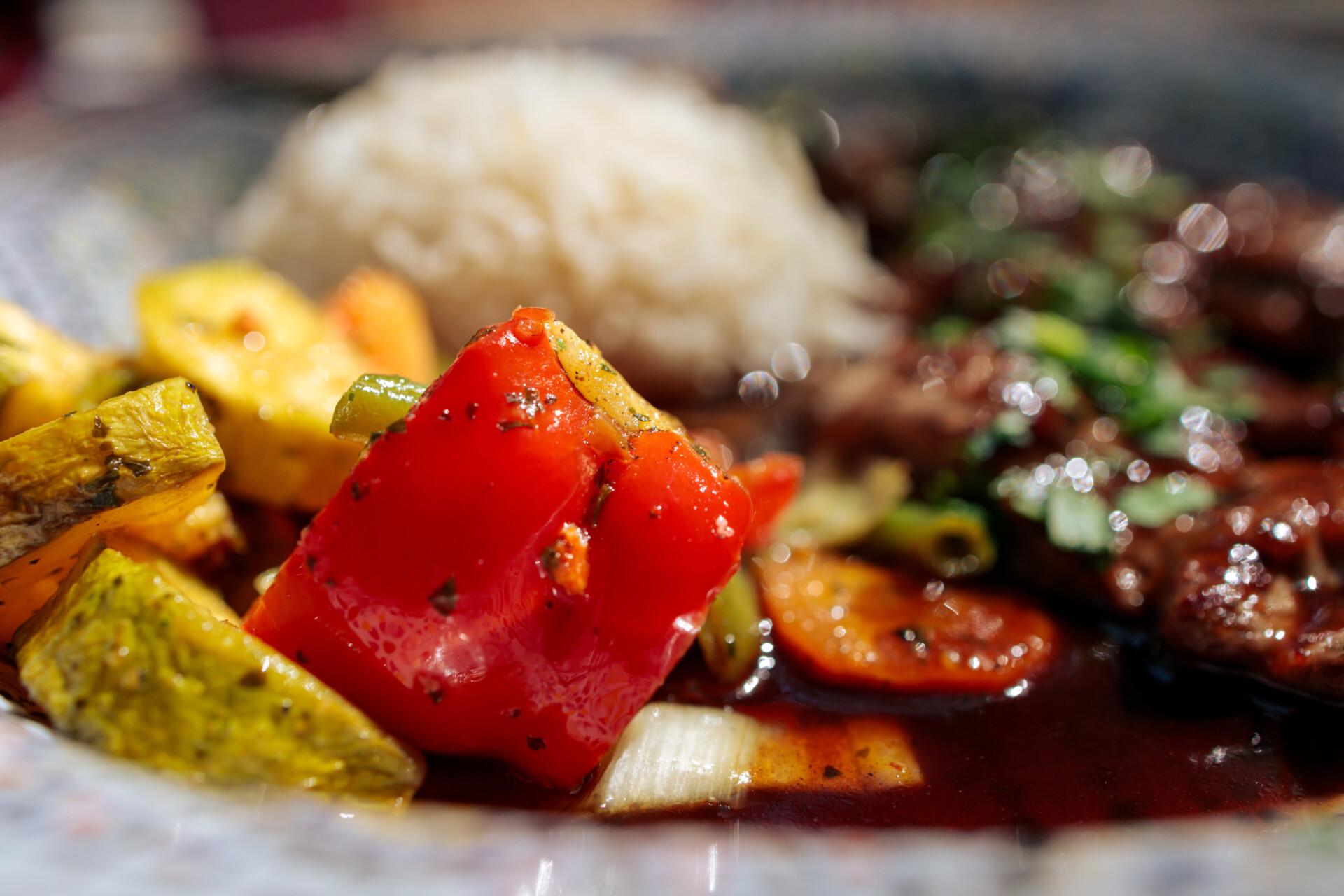 Grilled vegetables in an arabic restaurant