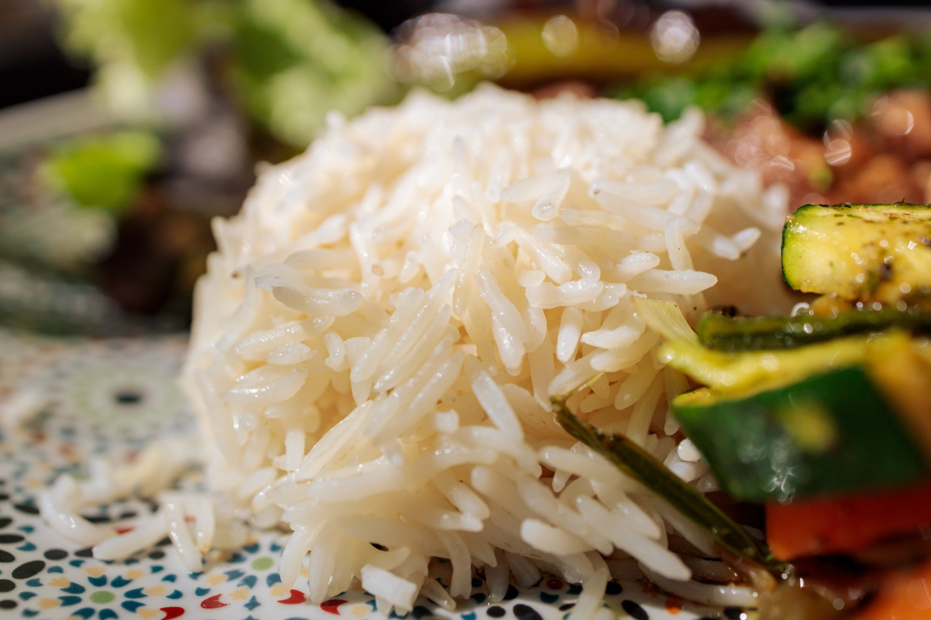 Rice and grilled vegetables