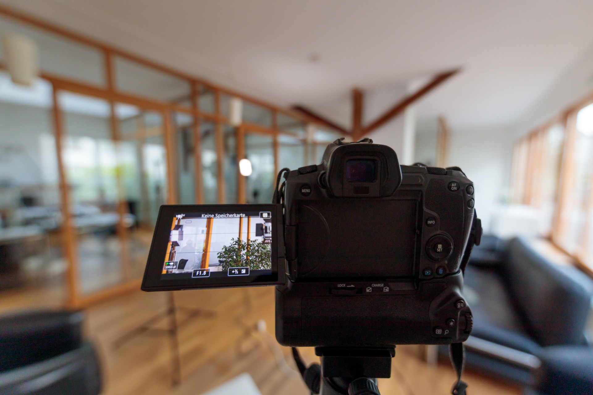 Filming with a full-frame camera