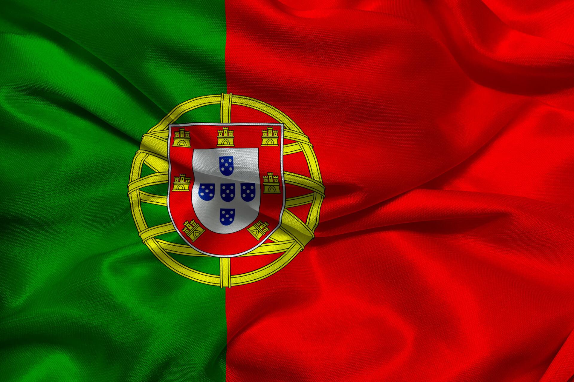 The flag of Portugal - Bandeira de Portugal