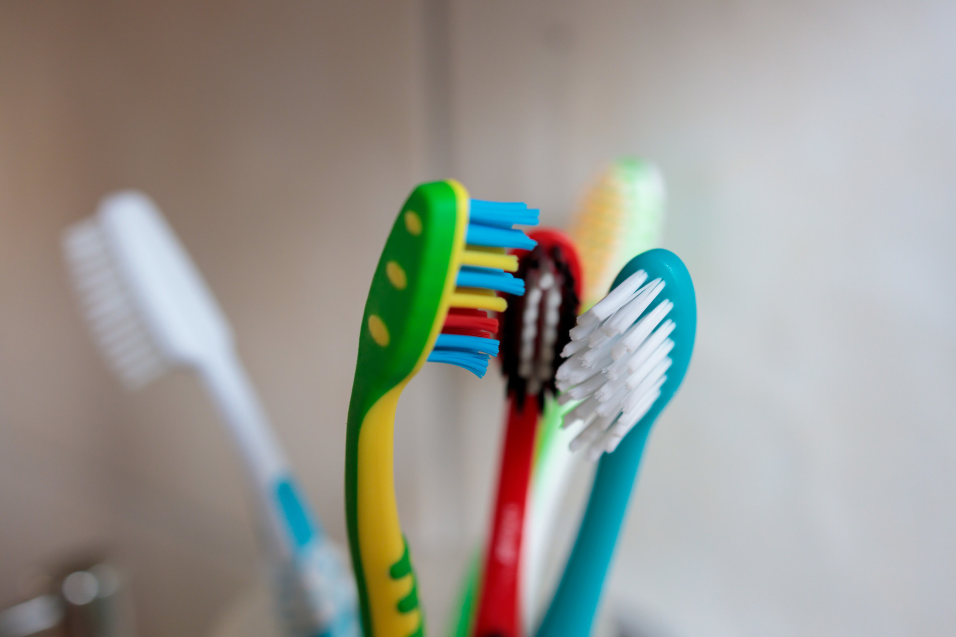 Toothbrushes of a small family
