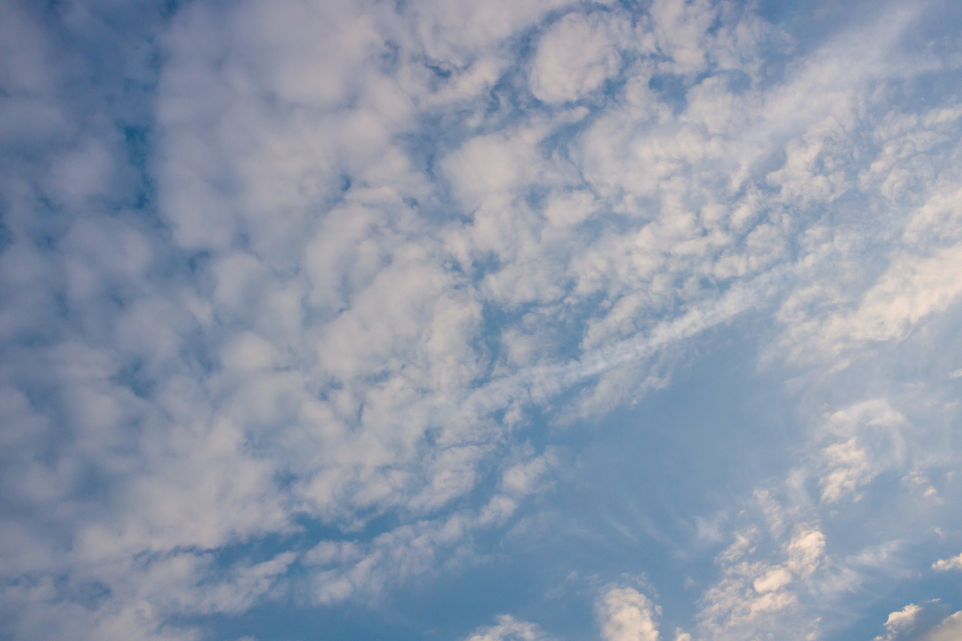 Blue cloudy sky for skyreplacement