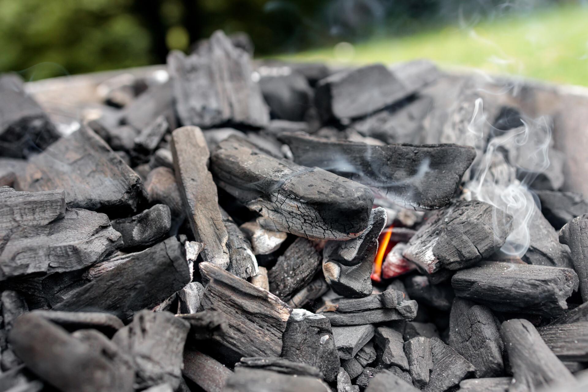 Lighting barbecue coal