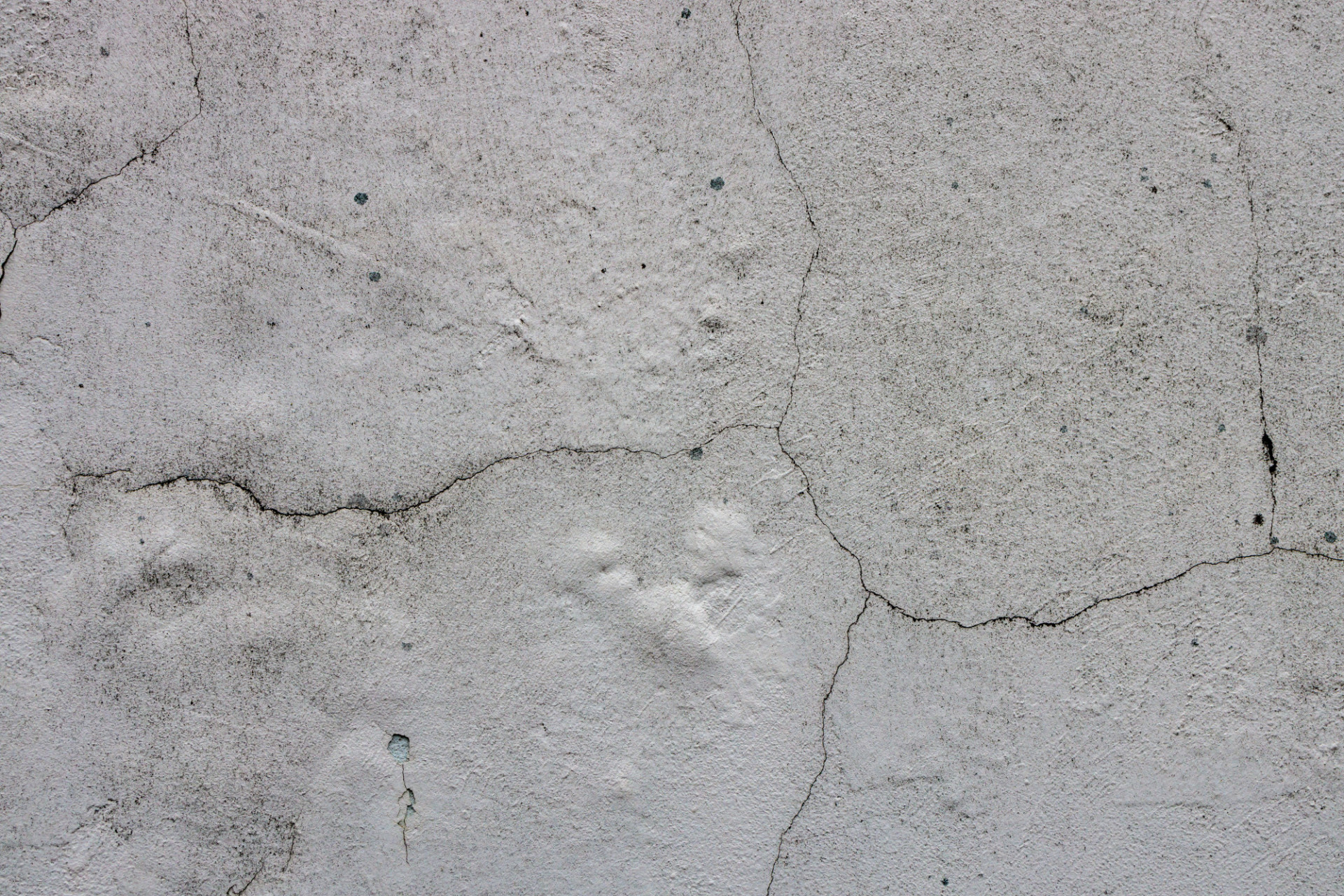 White wall weathered and with cracked texture