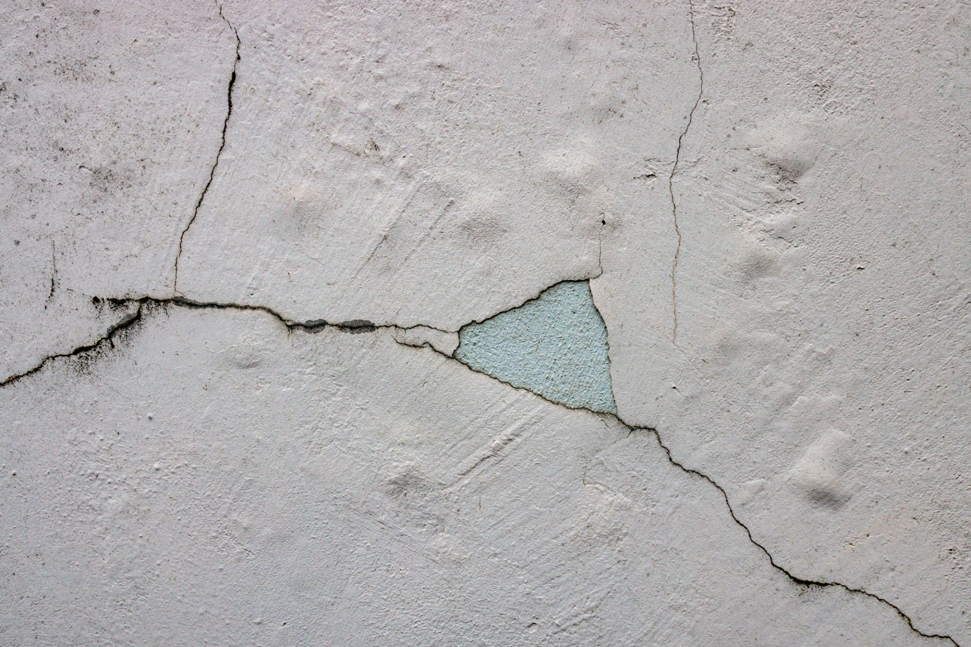 White Cracked Weathered Deteriorated Exterior Wall Texture