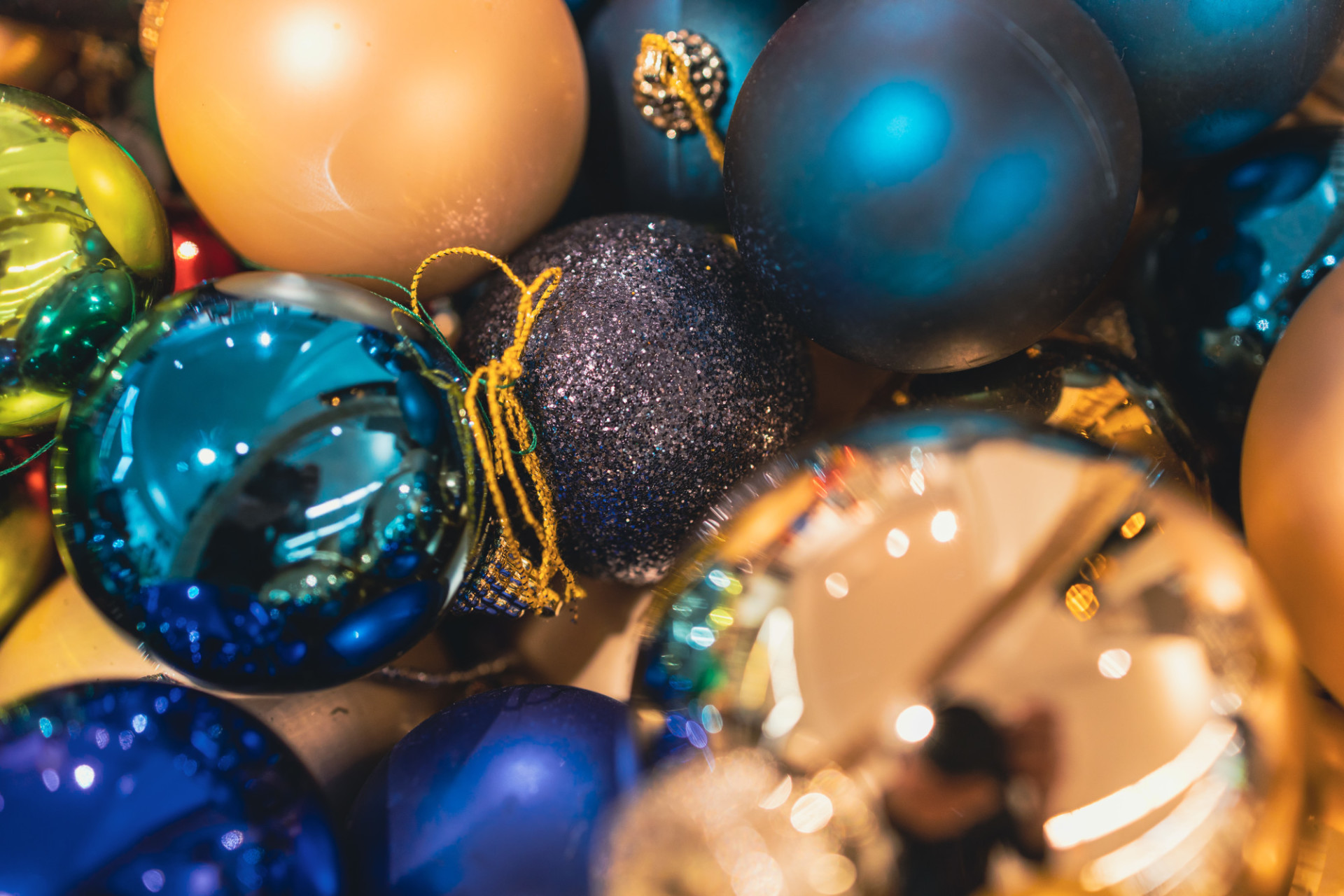 Colourful Christmas balls