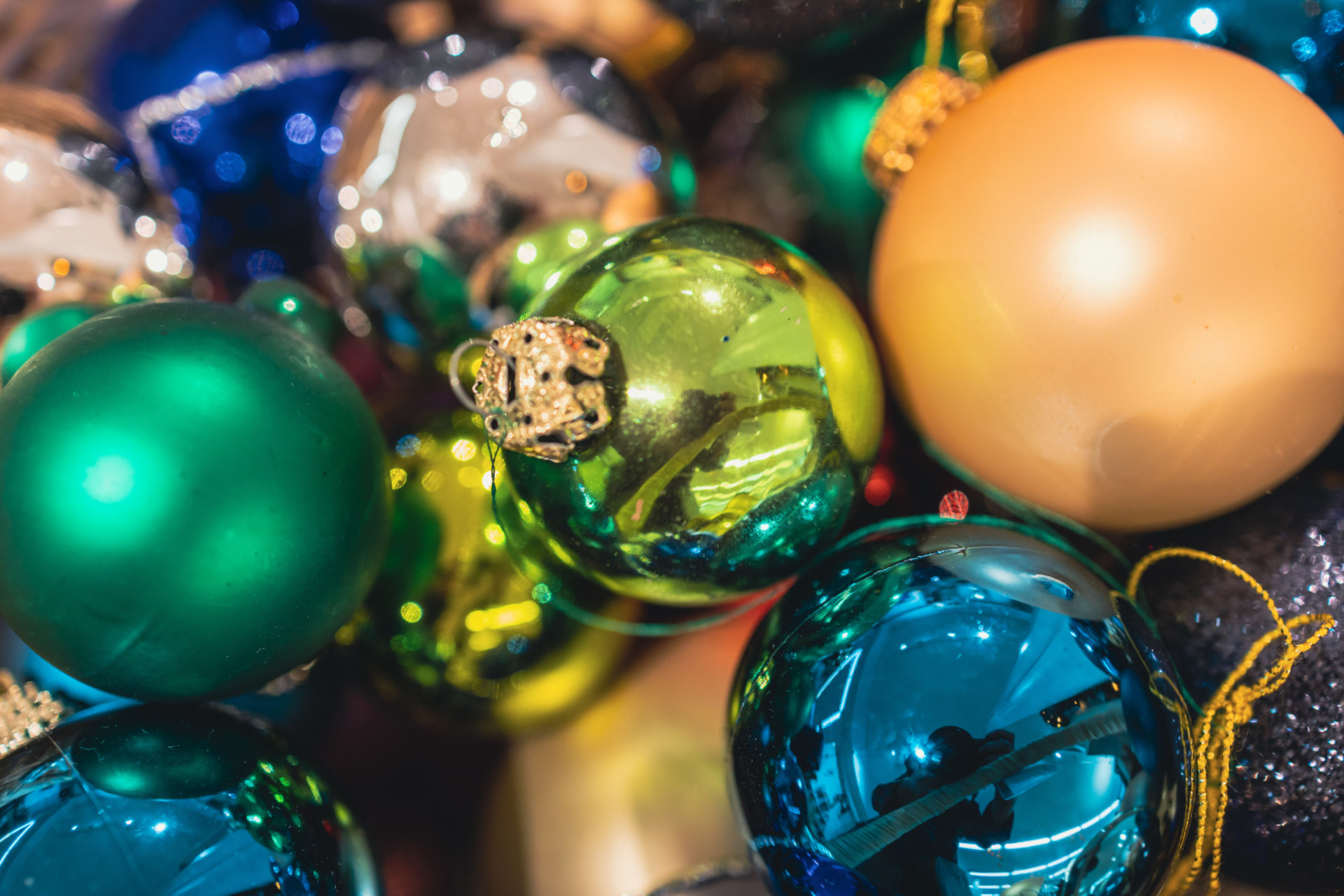 Colourful Christmas balls background