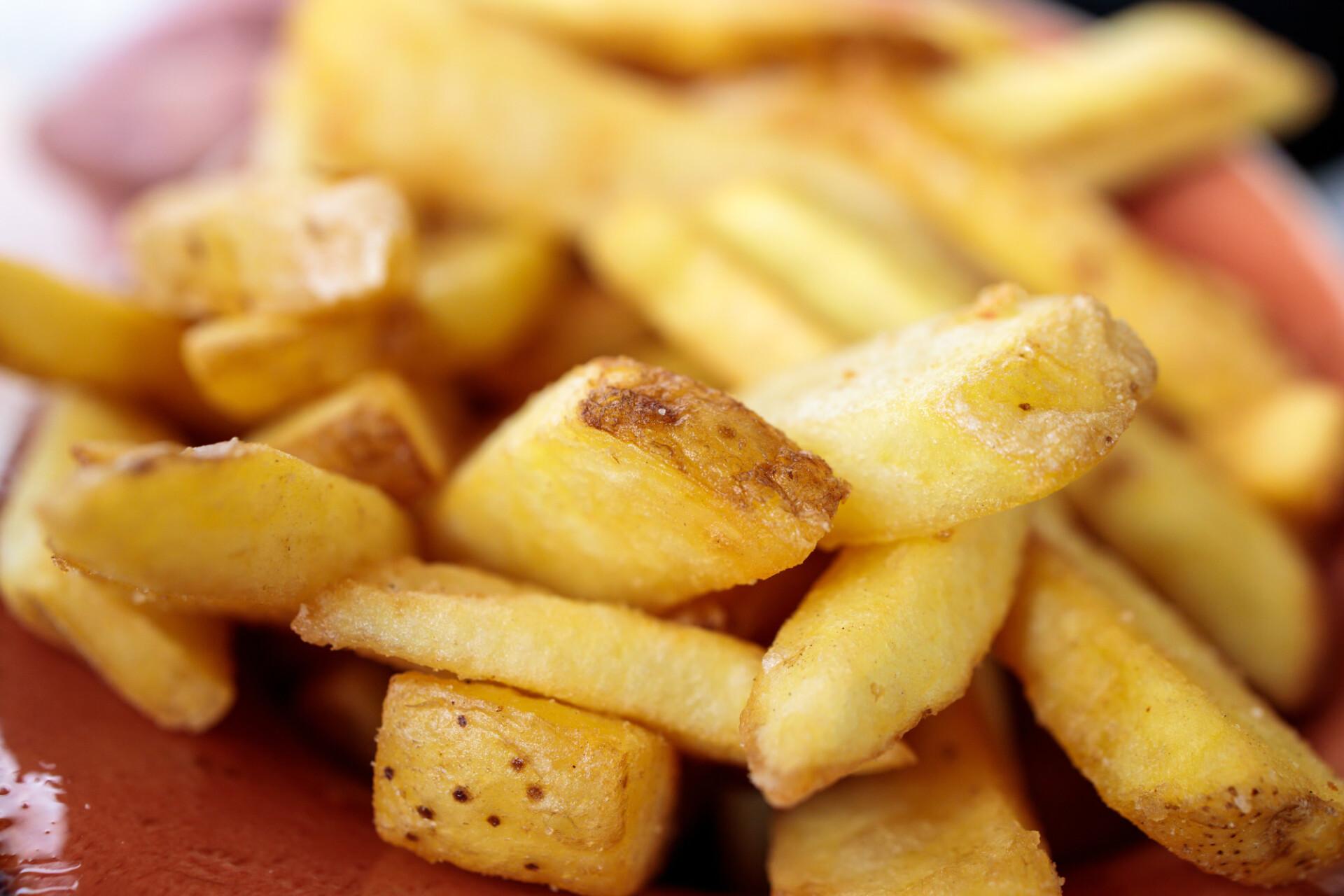 Tasty golden fries