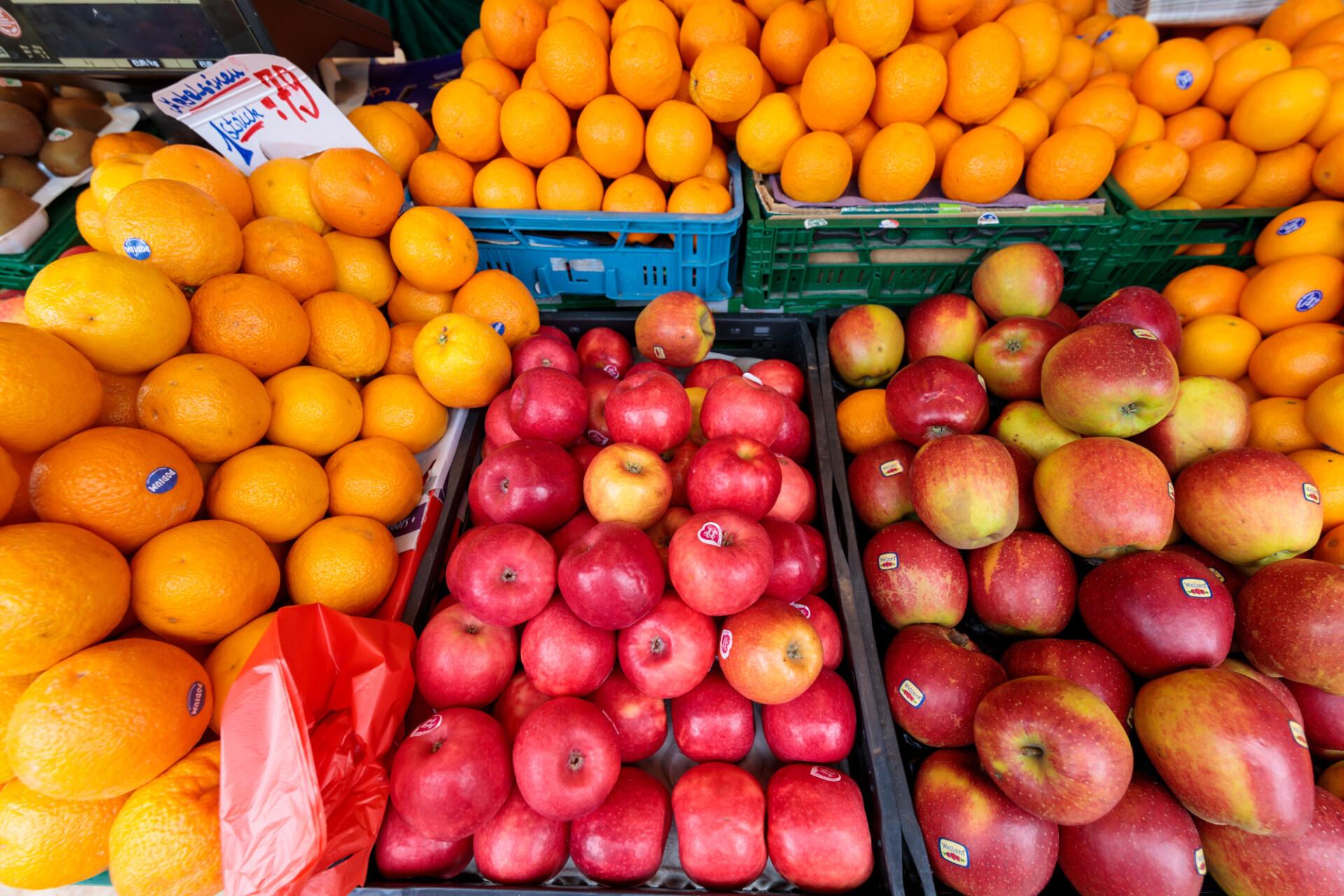 Fruit seller at the market