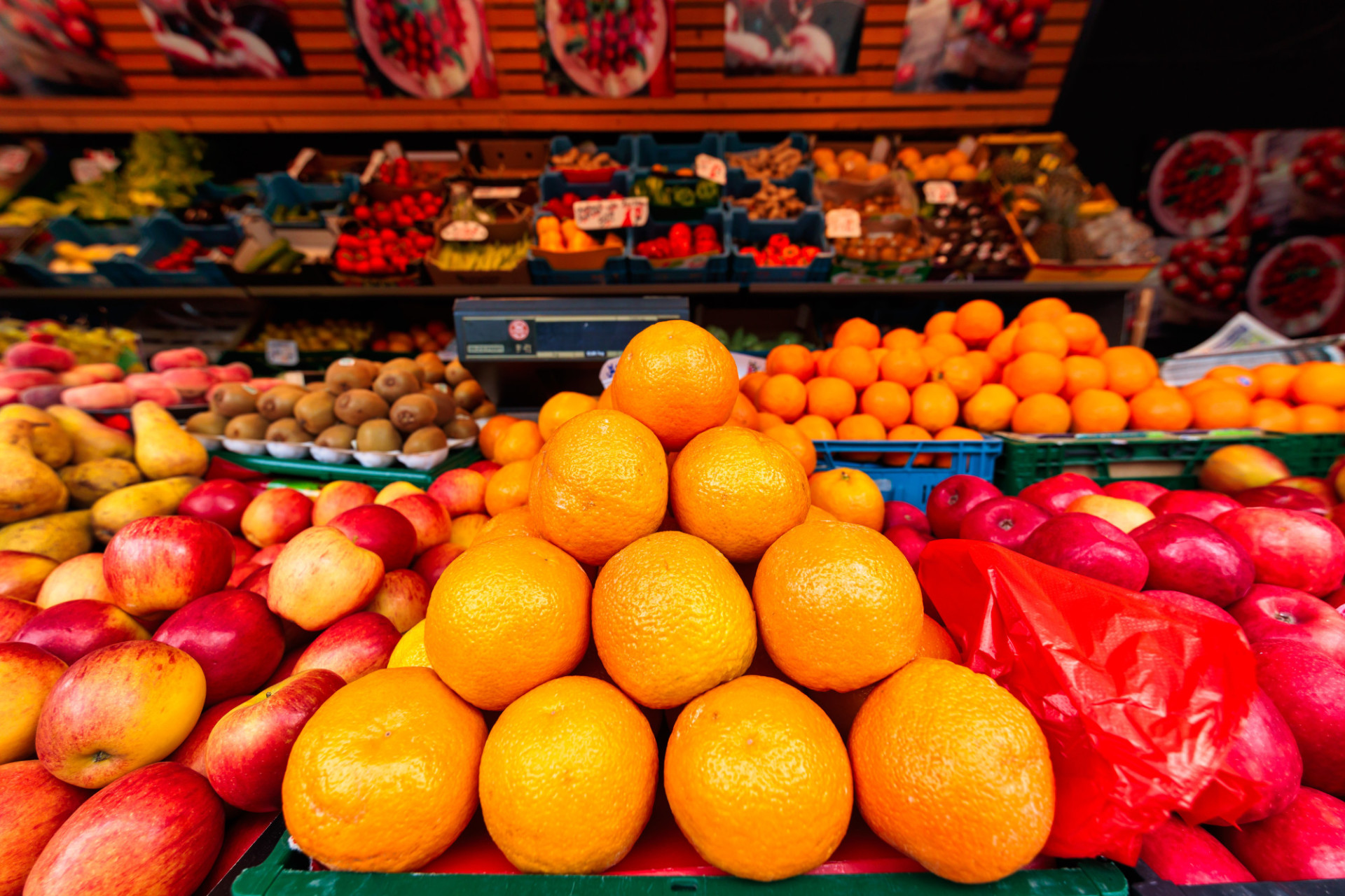 Fruits are sold at the market