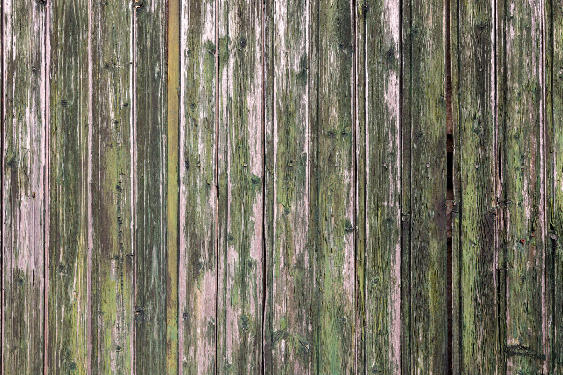 weathered green wood slats texture
