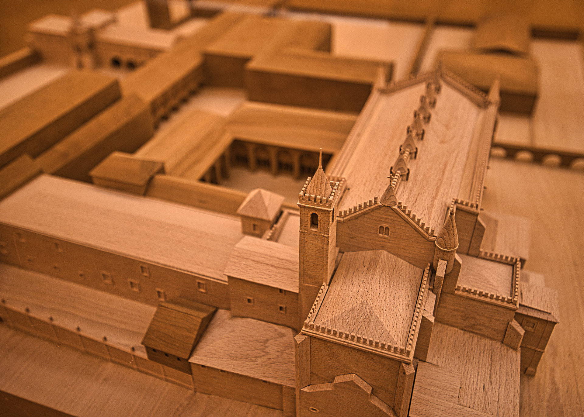 Ancient Roman city wooden model