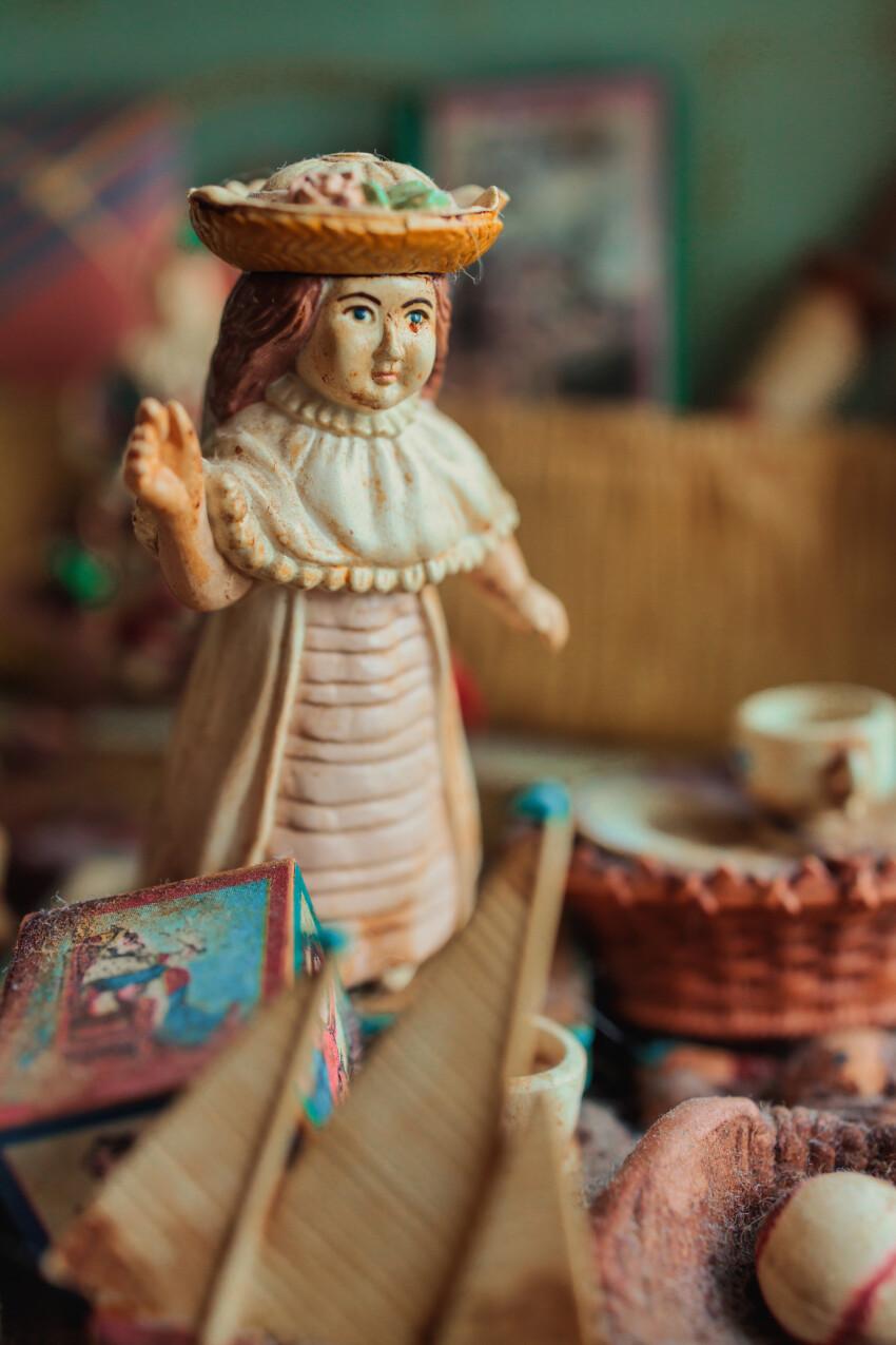 Vintage girl doll  vertical