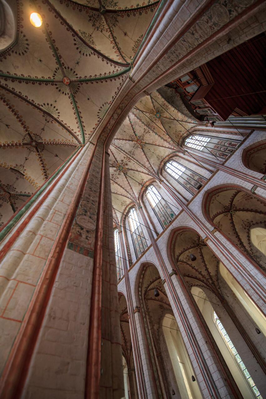 Pillars of the Marienkirche in Lübeck
