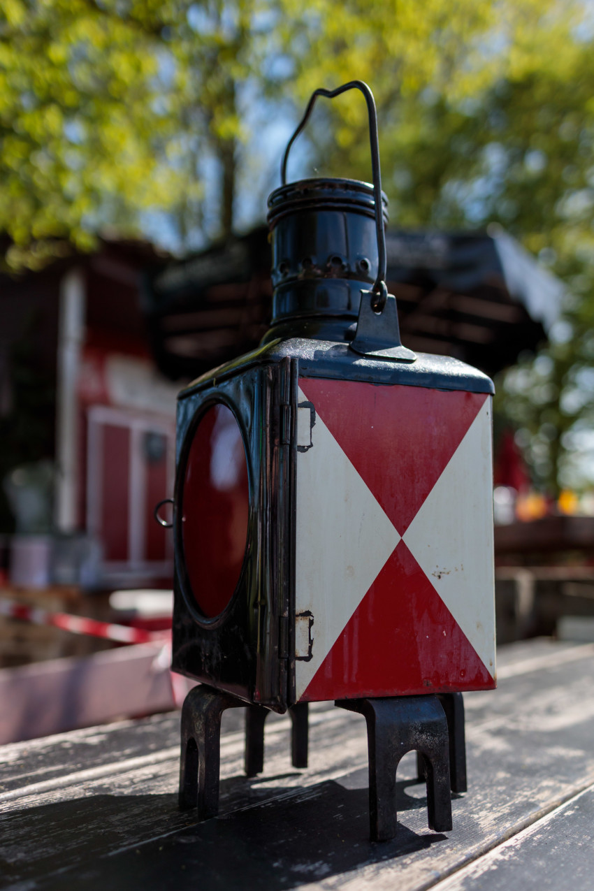 Vintage train lantern