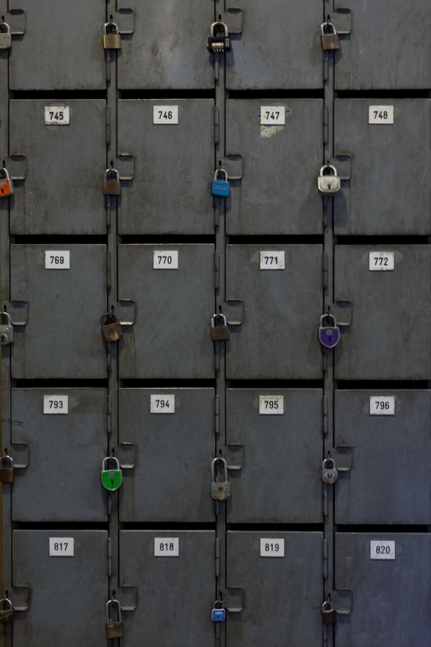 safe deposit boxes texture