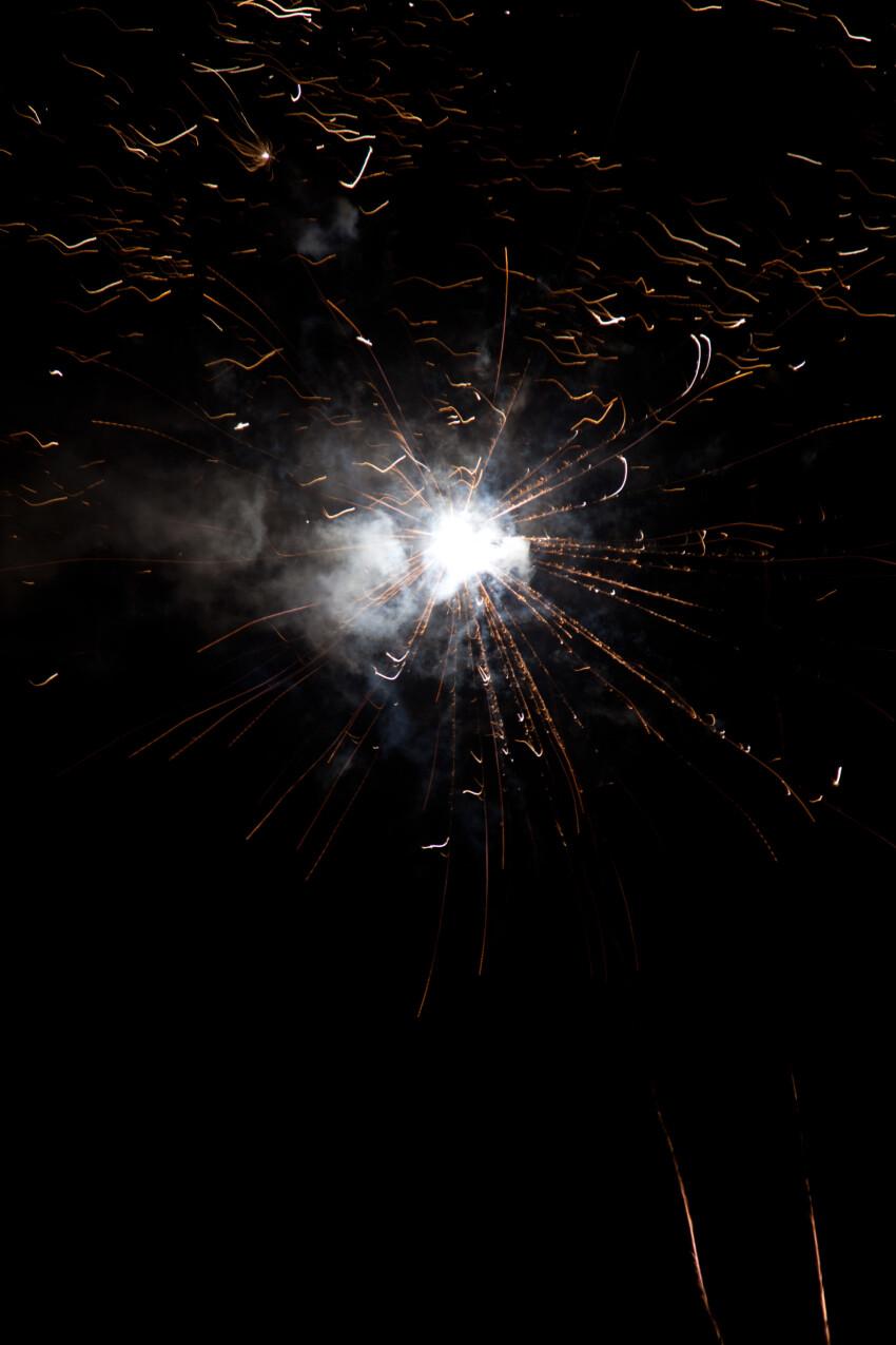 fireworks black background
