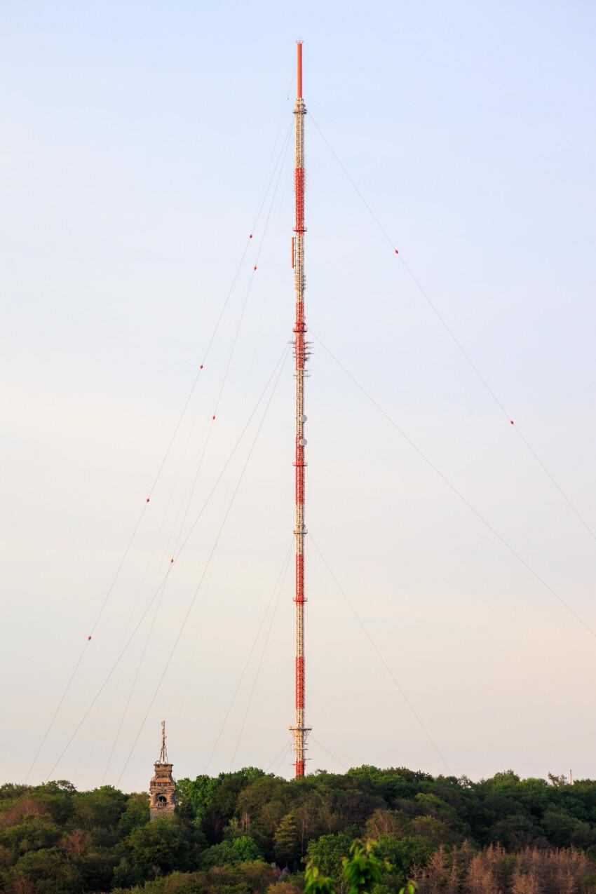 Velbert Langenberg with transmitter and Bismarck tower
