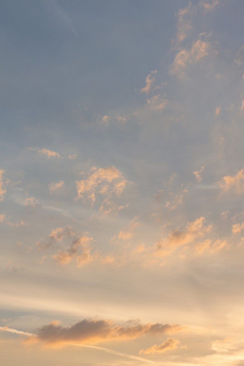 Stunning sky photographed vertically at evening time