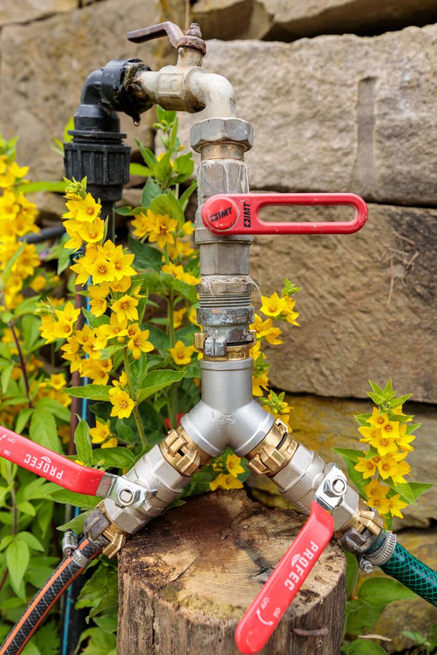 Water pipe in the garden