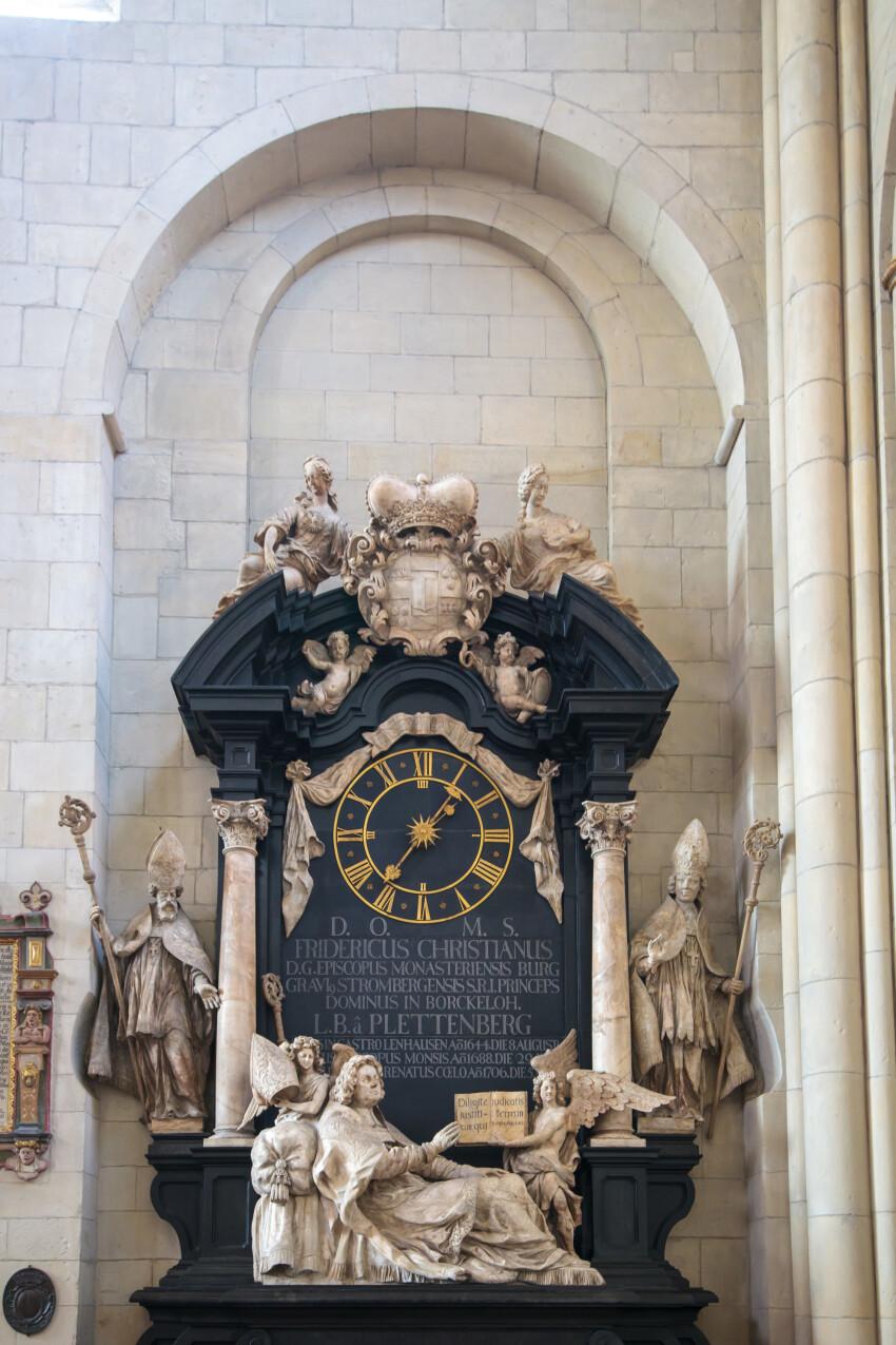 Ancient clock in a church