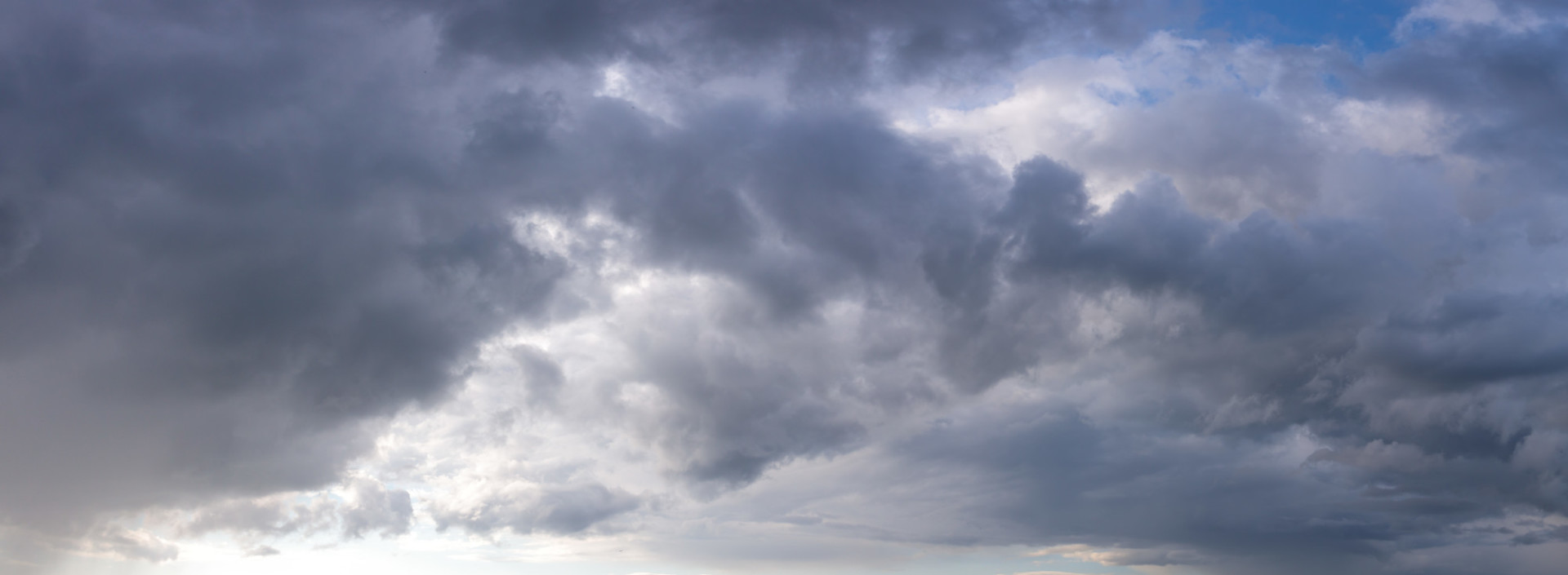 Stormy cloudy sky panorama background for sky replacement