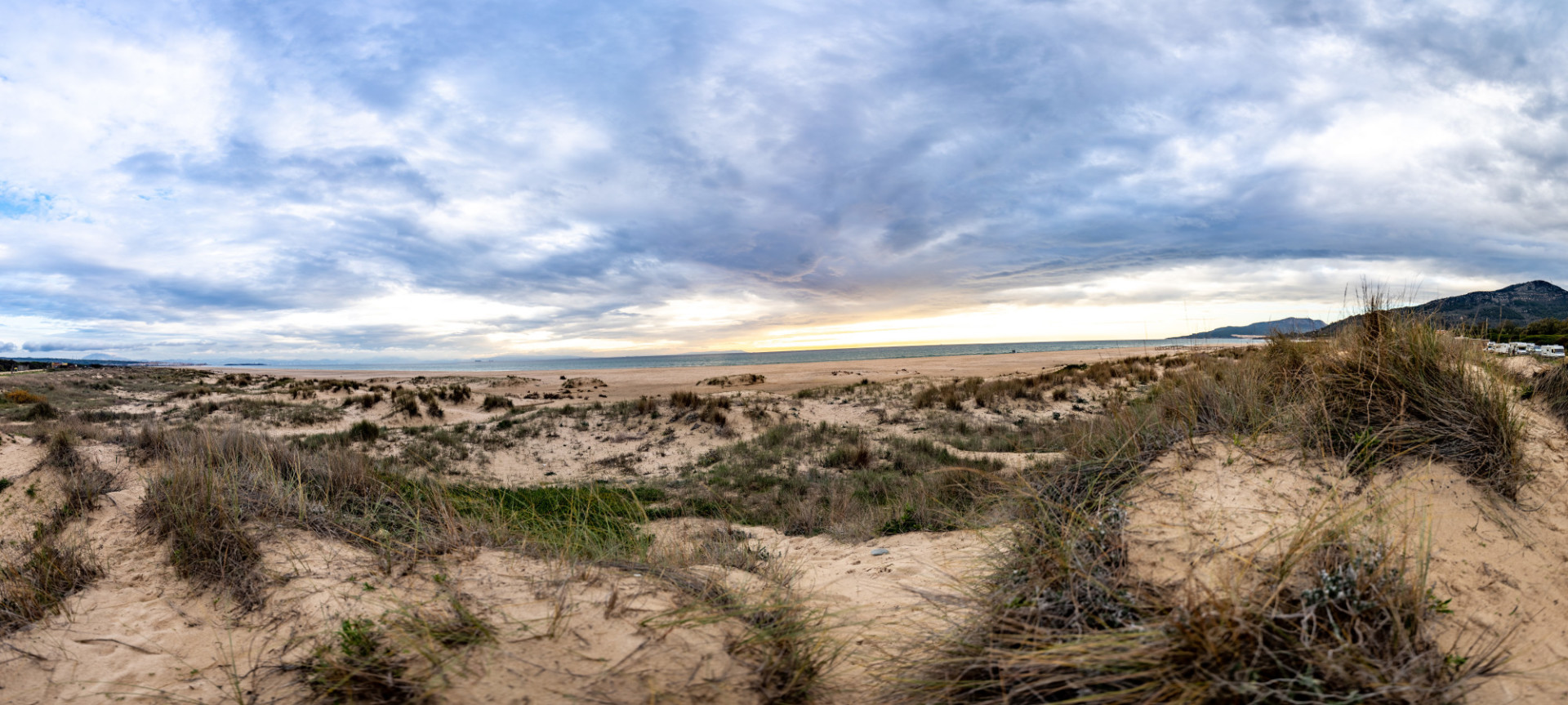Playa de los Lances Landscape Panorama