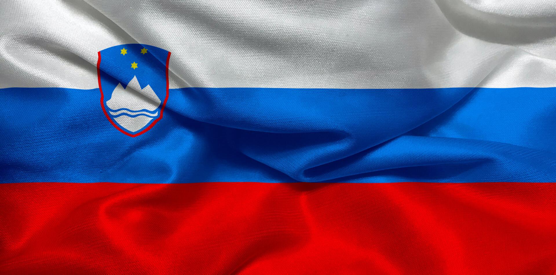The flag of Slovenia