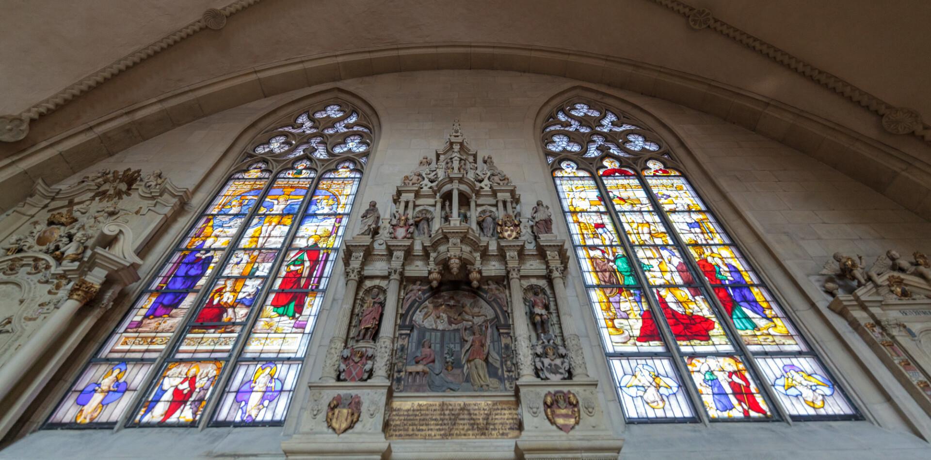 Colourful church windows
