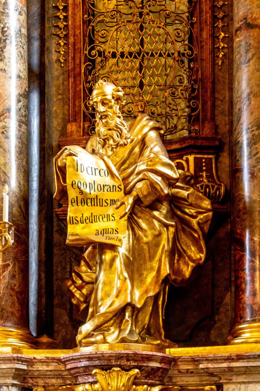 Religious statue of a prophet