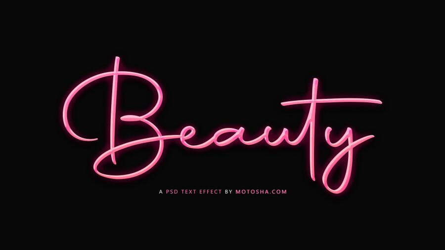 beauty psd text effect