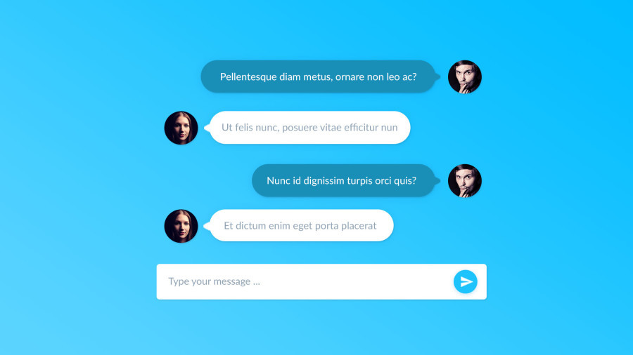 free psd chat template