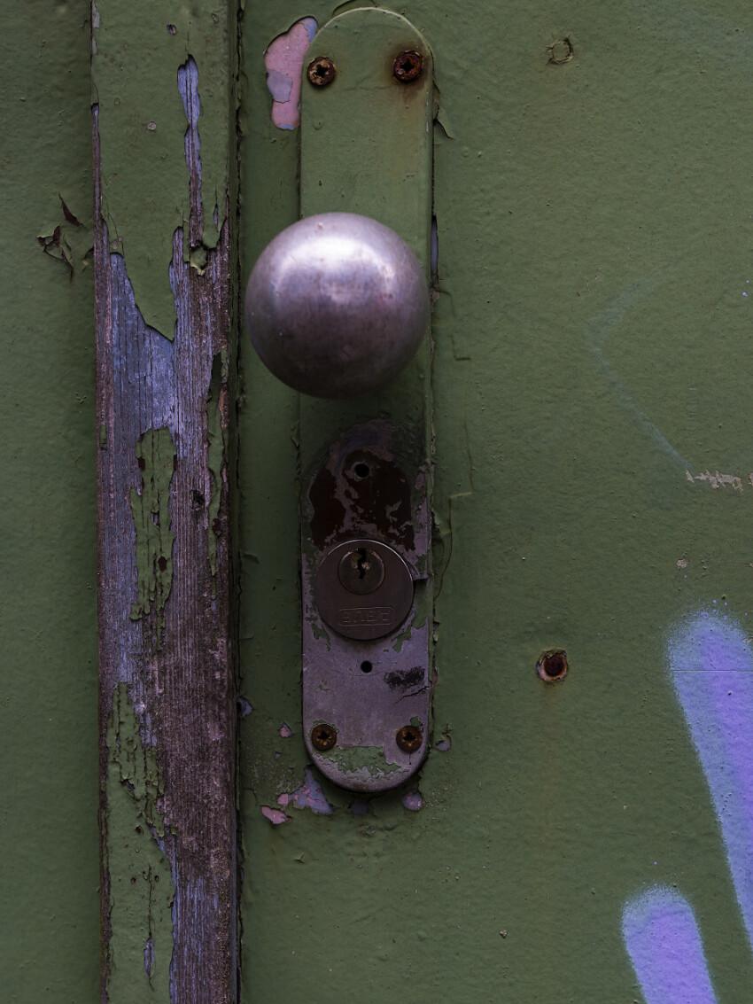 green door knob