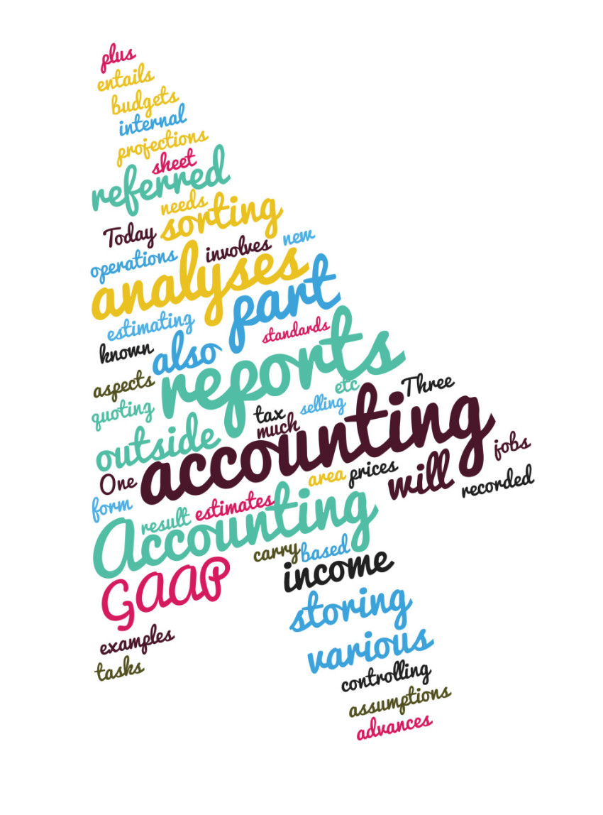 accounting arrow tag cloud