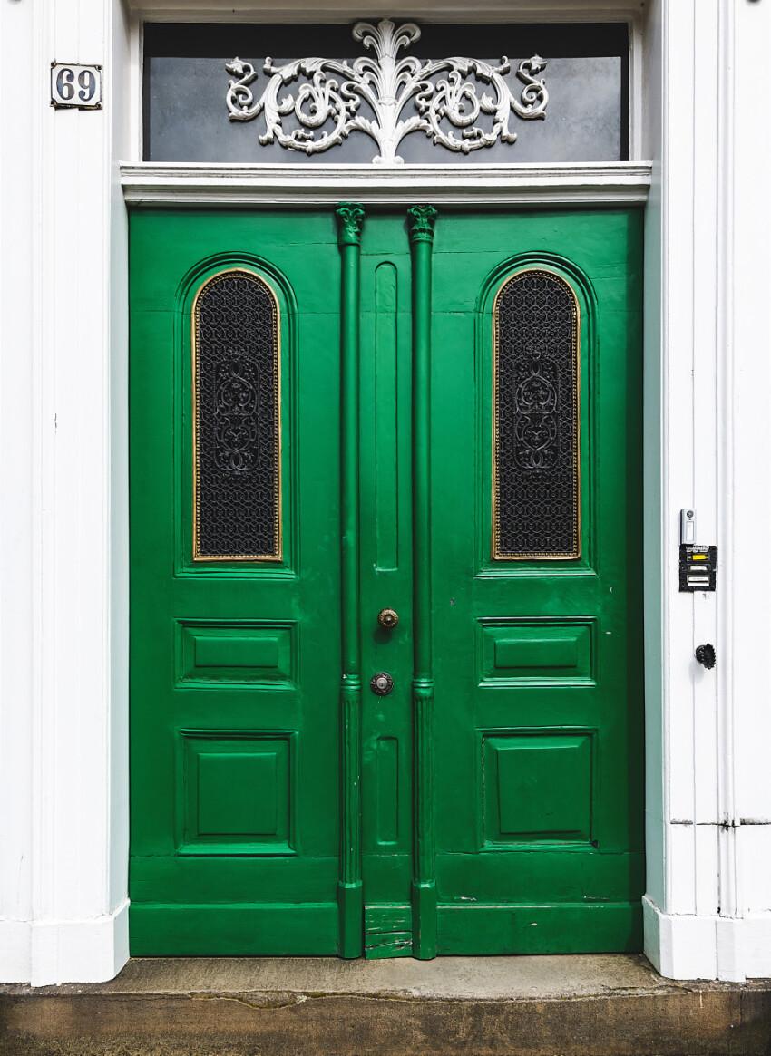 old green house door