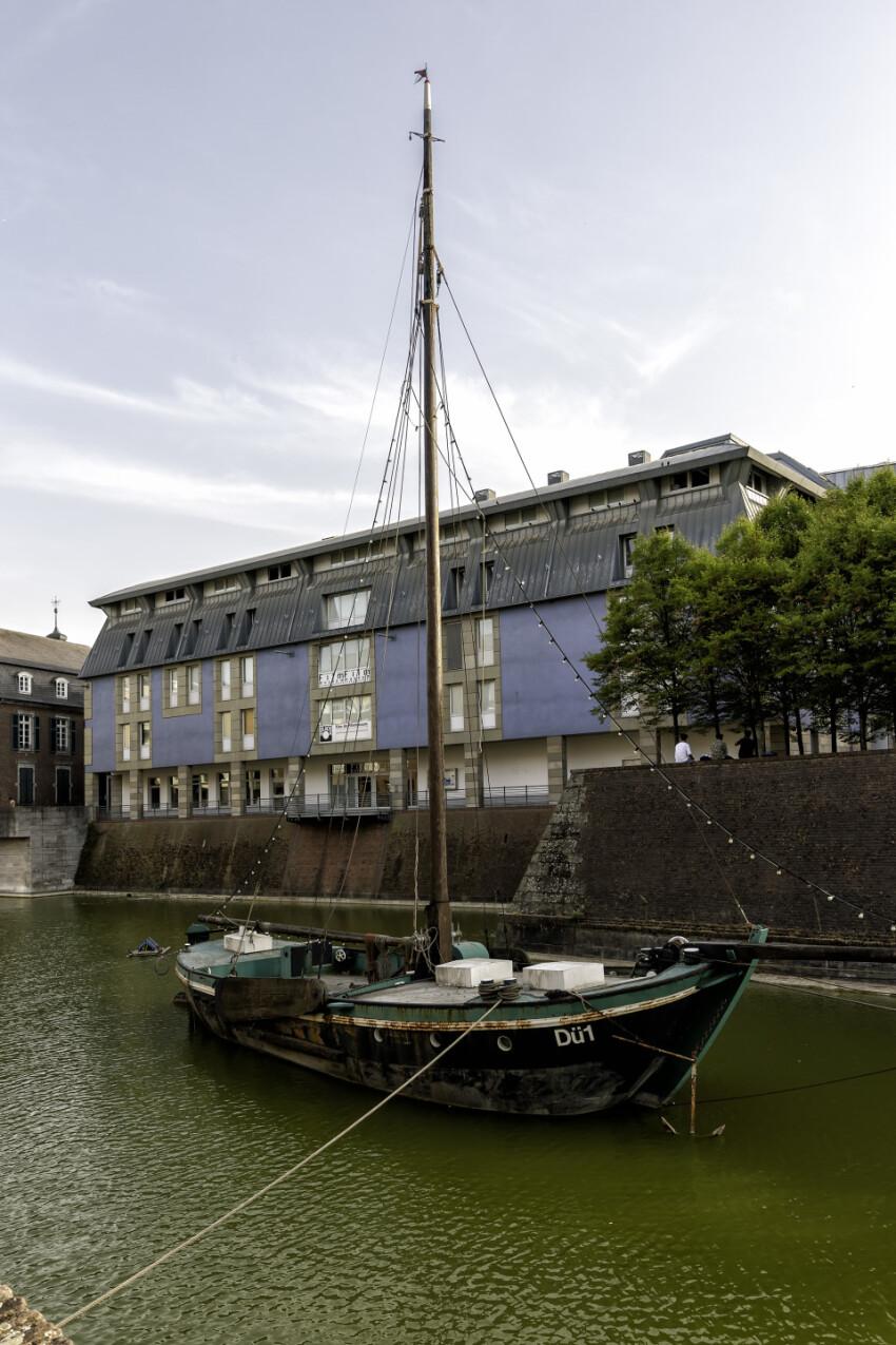 dusseldorf old harbor ship