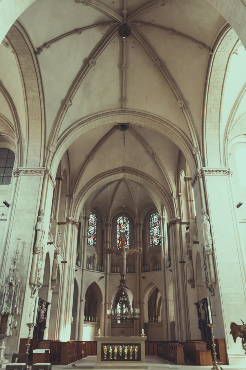 Nave of the St. Paulus cathedral in Münster by Germany