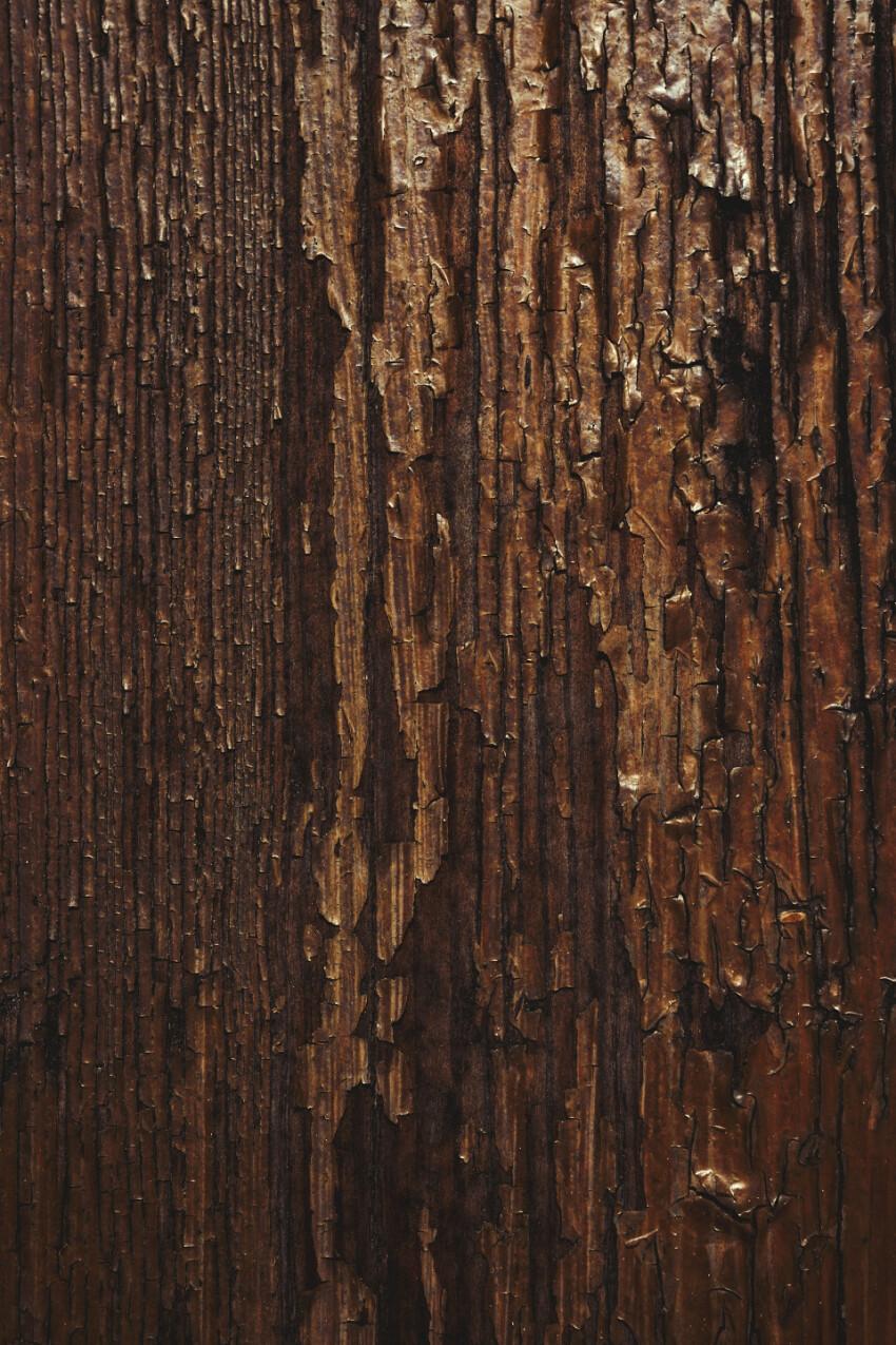 brown peeling wood veneer texture