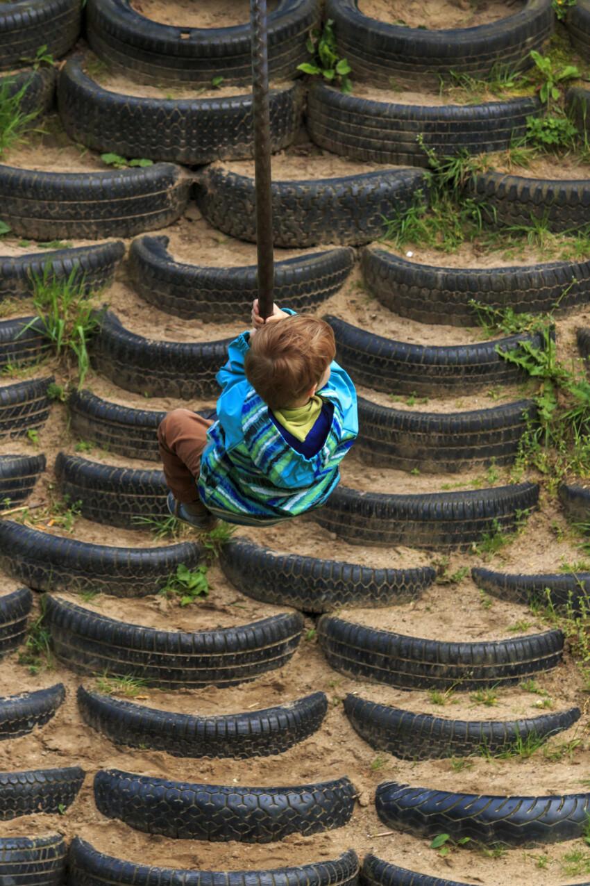 Little Boy on a Monkey Swing